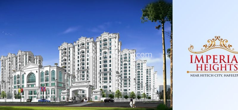 Aditya Imperial Heights flats near Hafeezpet, 3 bhk flats for sale landowner share