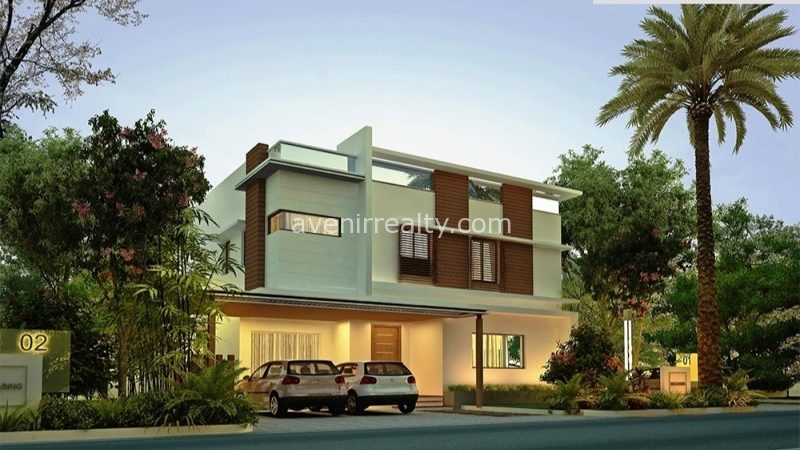 urban villas elevation gandipet