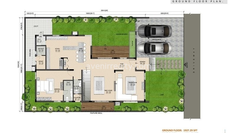 urban villas floor plan east facing