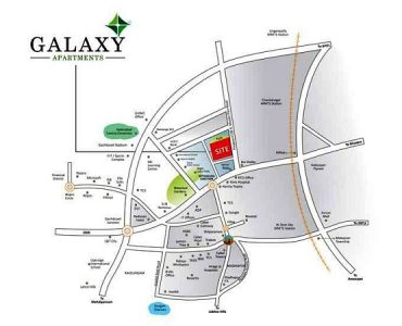 Greenmark Galaxy apartments location map close to kondpaur